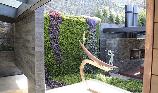 Exterior living wall
